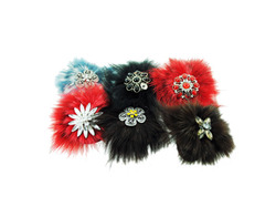 Fur Hair Pin ( Case of 24 )