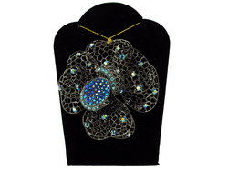 Jeweled Flower Necklace ( Case of 6 )