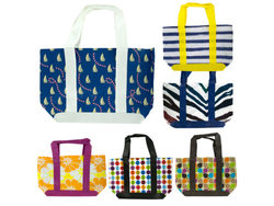 Colorful Beach Tote Bag ( Case of 48 )