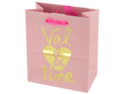 'Val & Tine' Small Gift Bag ( Case of 96 )