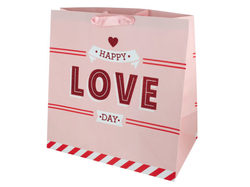 'Happy Love Day' Large Gift Bag ( Case of 48 )