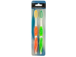 Colorful Soft Grip Toothbrush Set ( Case of 72 )