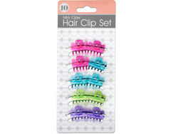Colored Mini Claw Hair Clip Set ( Case of 72 )