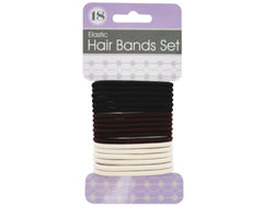 Basic Colors Hair Bands Set ( Case of 24 )