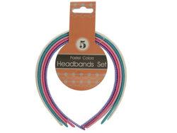 Pastel Colors Headbands Set ( Case of 24 )