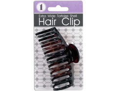 Extra Wide Tortoise Shell Claw Hair Clip ( Case of 72 )