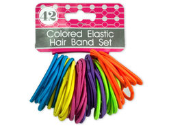 Colored Elastic Hair Bands Set ( Case of 24 )