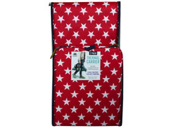 Red Stars Set of 2 Stacking Insulated Thermal Food Carrier ( Case of 4 )