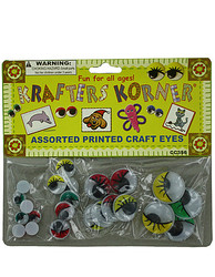 Colored Wiggly Printed Craft Eyes ( Case of 50 )