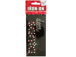 'Dear Santa' Rhinestone Iron-On Transfer ( Case of 24 )