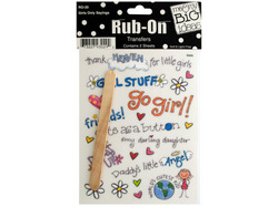 Girls Only Sayings Rub-On Transfers ( Case of 24 )