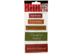 Thanksgiving Woven Labels ( Case of 24 )