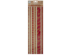 Reds Decorative Fabric Borders Stickers ( Case of 90 )