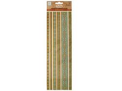Blues Decorative Fabric Borders Stickers ( Case of 24 )