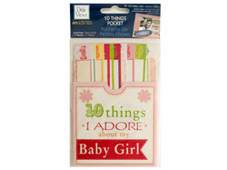 10 Things I Adore About My Baby Girl Journaling Pocket ( Case of 96 )