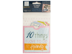 10 Things Friends Journaling Pocket ( Case of 72 )