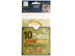 10 Things I Love About Everyday Life Journaling Pocket ( Case of 24 )