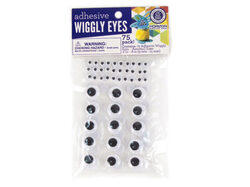 75 Pack Adhesive Wiggly Eyes ( Case of 108 )