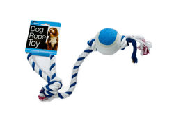 Category: Dropship Pet Supplies, SKU #DI232-144, Title: Dog Rope Tennis Ball Toy ( Case of 144 )