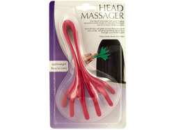 Flexible Plastic Head Massager ( Case of 24 )