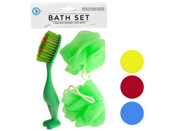 Bath Sponges & Foot Brush Set ( Case of 24 )