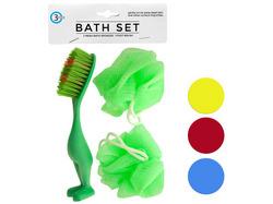 Bath Sponges & Foot Brush Set ( Case of 72 )