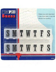 7 Day Pill Boxes Set ( Case of 72 )
