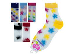 High Cut Stars Socks ( Case of 108 )