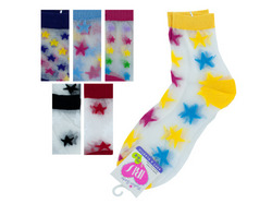 High Cut Stars Socks ( Case of 144 )