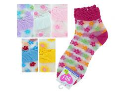 Mid Cut Flowers Socks ( Case of 108 )