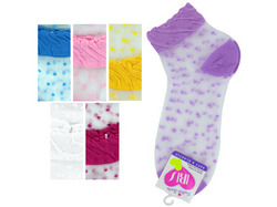 Mid Cut Dots Socks ( Case of 108 )