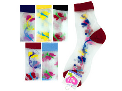 High Cut Butterfly Socks ( Case of 144 )