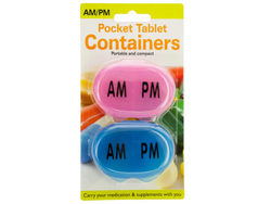 AM/PM Pocket Tablet Containers Set ( Case of 24 )