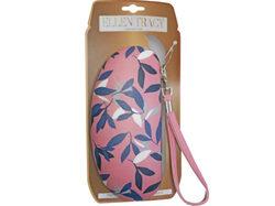 ellen tracy sunglasses case in coral & leaves design ( Case of 12 )