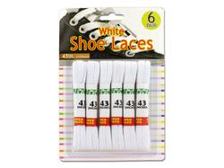 White Shoe Laces ( Case of 24 )
