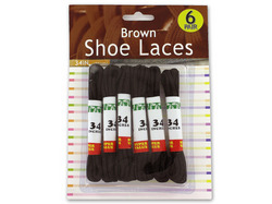 Brown Shoe Laces ( Case of 48 )
