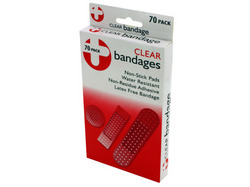 Latex-Free Clear Bandages ( Case of 12 )