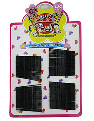 Black Bobby Pins with Soft Tips ( Case of 72 )