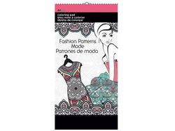 Fashion Patterns Small Coloring Pad ( Case of 24 )