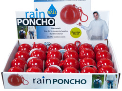 Rain Poncho in a Ball Countertop Display ( Case of 96 )