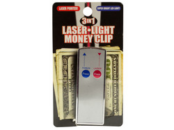 3 In 1 Laser Light Money Clip ( Case of 96 )