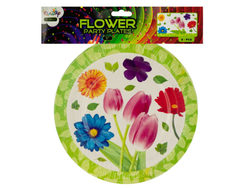 "9"" Floral Party Paper Plates ( Case of 72 )"