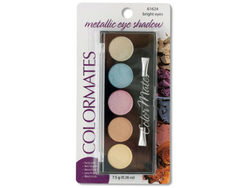 Colormates Bright Eyes Metallic Eye Shadow Compact ( Case of 24 )