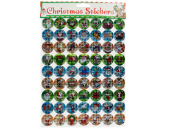 Holographic Christmas Stickers Set ( Case of 72 )