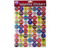 Valentine Stickers ( Case of 48 )