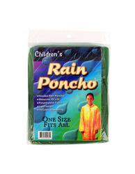 Children's Hooded Rain Poncho ( Case of 48 )