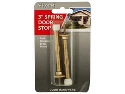 Brass-Plated Spring Door Stops ( Case of 24 )