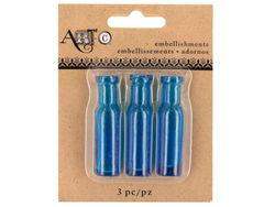 Mini Blue Craft Wine Bottle Set ( Case of 20 )
