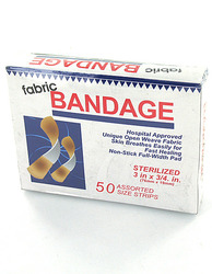 Flexible Fabric Bandages ( Case of 48 )