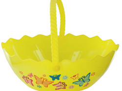 Egg Shape Printed Easter Basket ( Case of 48 )